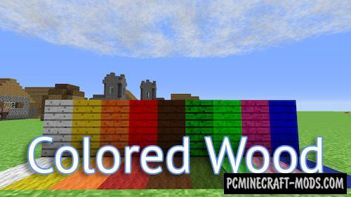 Colored Wood Mod For Minecraft 1.10.2