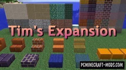 Tim's Expansion Mod For Minecraft 1.12.2, 1.11.2, 1.10.2, 1.7.10