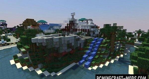 Caribbean Cove (Water Park) Map For Minecraft