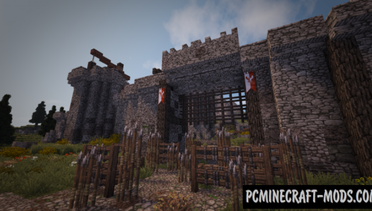 Skyrim inspired Fort Map For Minecraft