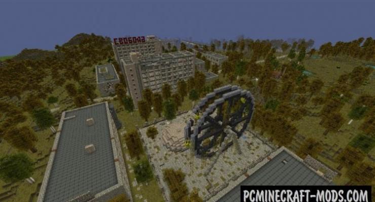 Скачать карту на Майнкрафт - Чернобыль