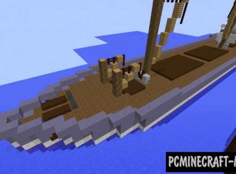 Cargo Ship - 3D Art Map For Minecraft