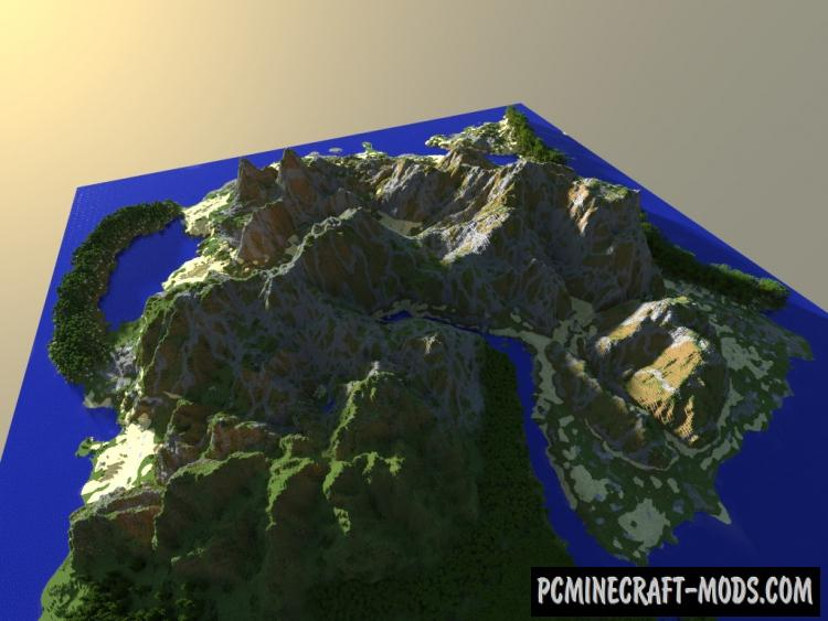 Ultra Realistic Minecraft Terrain Map For Minecraft