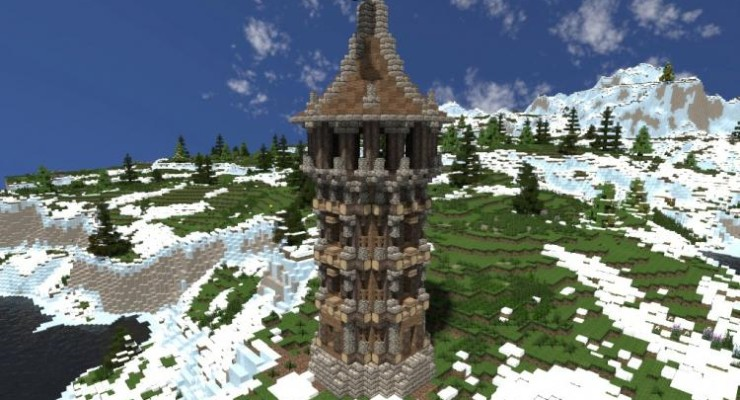 Medieval Watchtower - Building Map For MC