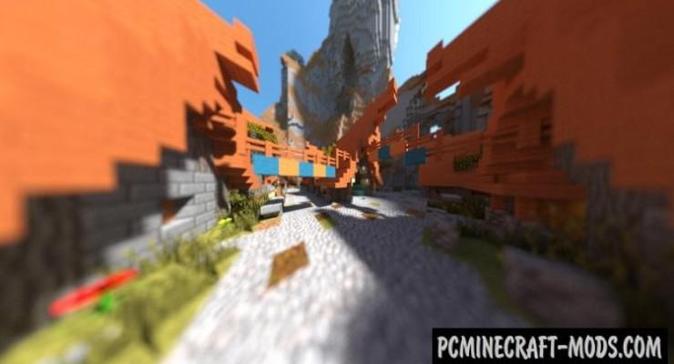 Rustic Savanna Village - Town Map For Minecraft