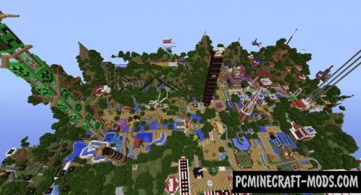 Lunapark Adventure 3 Map For Minecraft