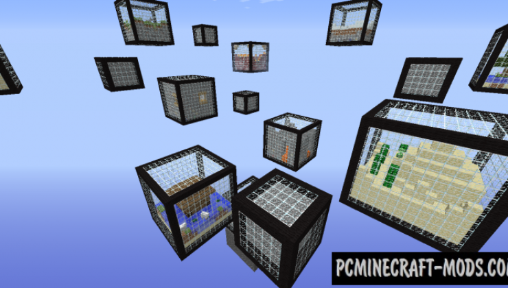Micro Cubes - Survival, Minigame Map For MC