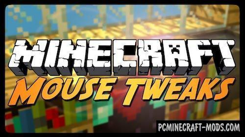 Mouse Tweaks - Inventory Tweak Forge Mod MC 1.16.1, 1.15.2
