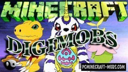 Digimobs Mod For Minecraft 1.12.2, 1.11.2, 1.10.2, 1.7.10
