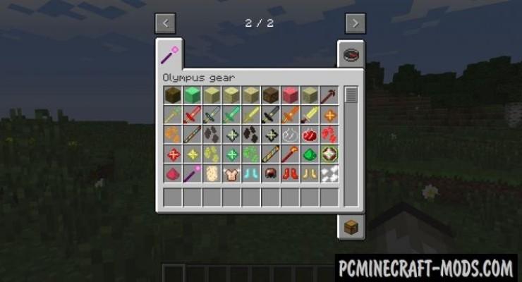 Olympus Gear - Weapon Mod For Minecraft 1.8.9, 1.7.10