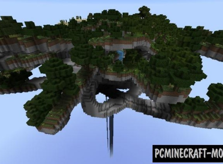 Floating Survival Island Map For Minecraft