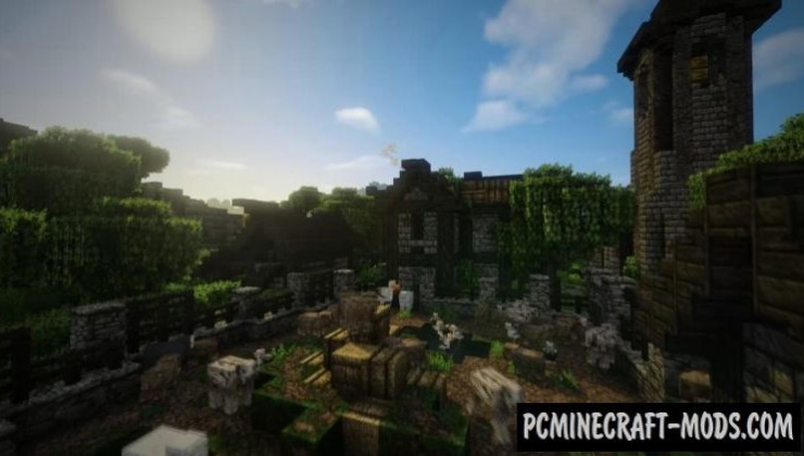 Epic Medieval Town Map For Minecraft