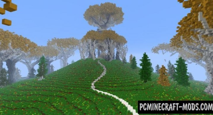 Lothlorien - Custom Terrain Map For Minecraft