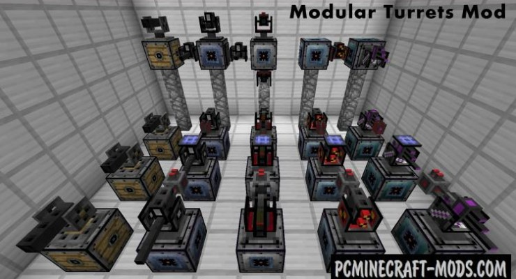 OpenModularTurrets Mod For Minecraft 1.12.2, 1.11.2, 1.10.2, 1.7.10