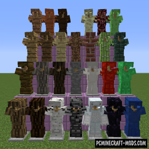 Block Armor Mod For Minecraft 1.12.2, 1.11.2, 1.10.2, 1.7.10