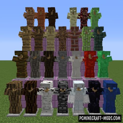Block Armor Mod For Minecraft 1.16.5, 1.12.2