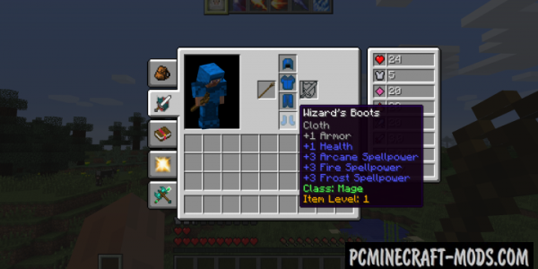 Classes of Warcraft Mod For Minecraft 1.7.10