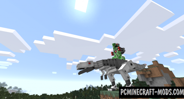 Laser Creeper Robot Dino Riders Mod For Minecraft 1.12.2, 1.10.2, 1.7.10