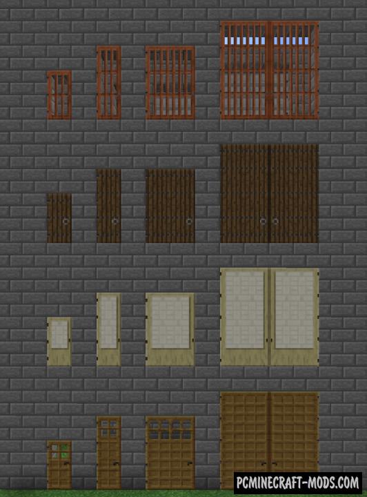 Roxa's Tall Doors - Decor Mod For Minecraft 1.8.9, 1.7.10