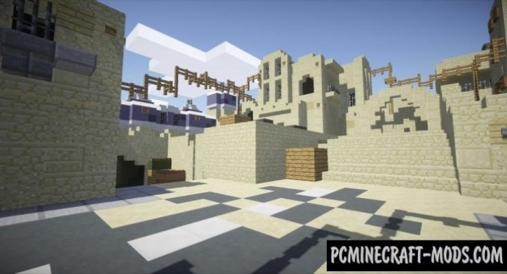 CounterStrike GODe DustII Map For Minecraft PC - Micro cubes map para minecraft 1 8 descargar