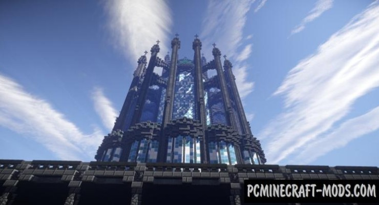 Prismarine Cathedral - Castle Map For Minecraft