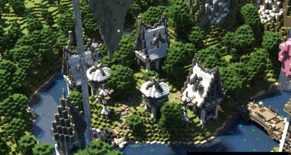 Kingdom Of Invernus - Town Map For Minecraft