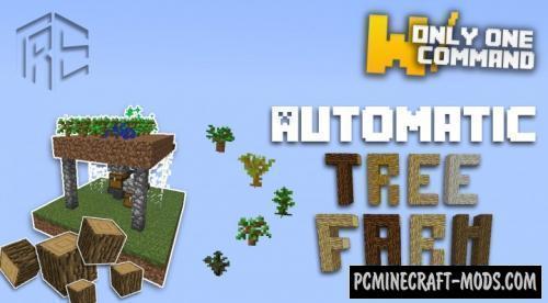 Automatic Tree Farm Command Block For Minecraft 1.8.9