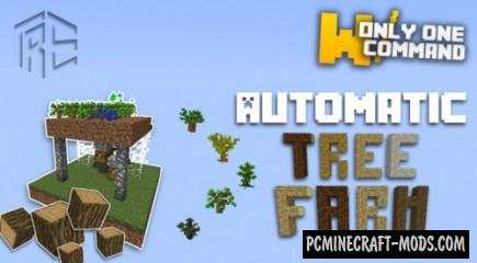 Automatic Tree Farm Command Block For Minecraft 1.8.8, 1.8