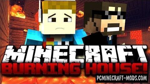 Burning House - Minigame, Puzzle Map For MC