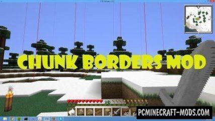 ChunkBorders - GUI Mod For Minecraft 1.16.1, 1.15.2, 1.12.2