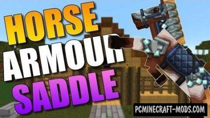 Craftable Horse Armour and Saddle Mod MC 1.16.1, 1.15.2