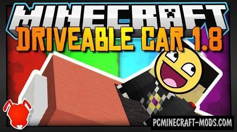 Driveable Car Command Block For Minecraft 1.8.8, 1.8