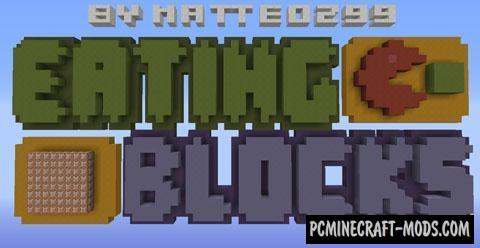 Eating Blocks - Minigame Map For Minecraft