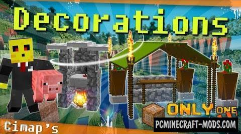 Garden Decorations Command Block For Minecraft 1.8.9