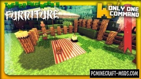 Garden Furniture Command Block For Minecraft 1.8.8, 1.8