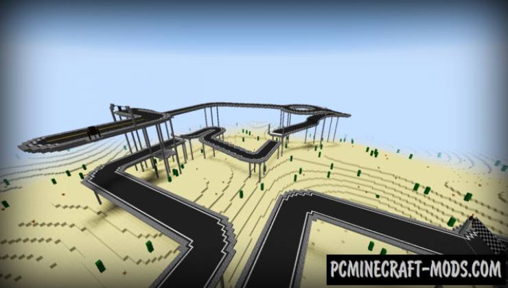 Minecar Racing Map For Minecraft