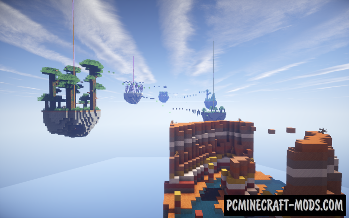 Parkour Paradise: Sky Islands Map For Minecraft