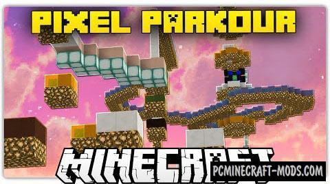 Pixel Parkour Map For Minecraft