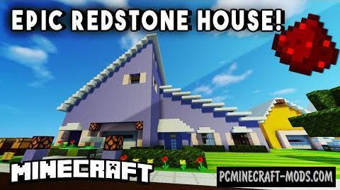 how to build a redstone house in minecraft pc