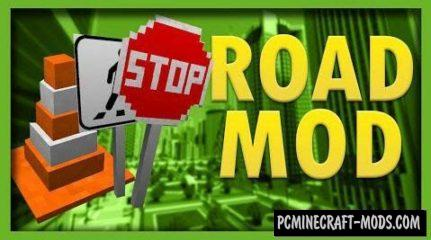 Road Mod by derfl007 Mod For Minecraft 1.12.2, 1.10.2, 1.8.9