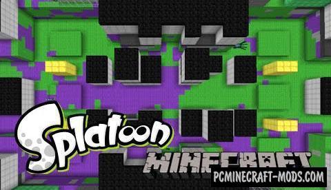 Splatoon - PvP, Arena Map For Minecraft