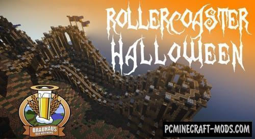 Scary Halloween Coaster - Adventure Map For MC