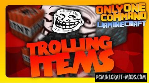 Trolling Items Command Block For Minecraft 1.8.8, 1.8