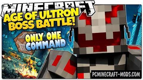 Ultron Boss Battle Command Block For Minecraft 1.8.8, 1.8