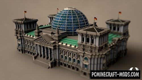 Berlin Reichstag - Building Map For Minecraft