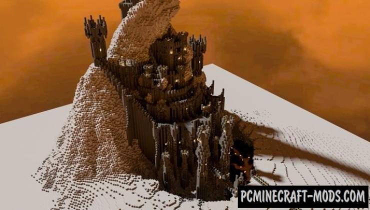 Barad-Dur - Castle, Building Map For Minecraft