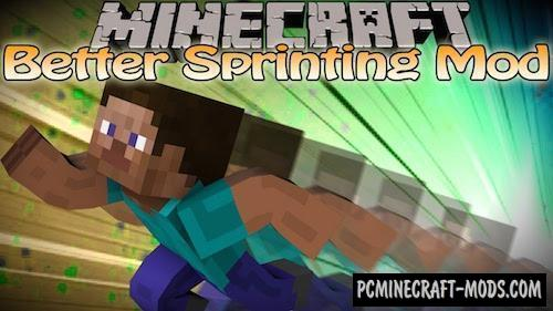 Better Sprinting Mod For Minecraft 1.14.4, 1.14.3, 1.13.2