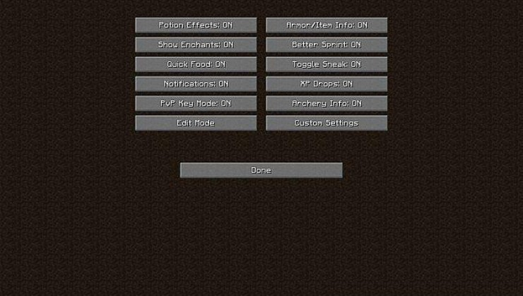 Better PvP - HUD Mod For Minecraft 1.16.4, 1.14.4, 1.12.2, 1.7.10