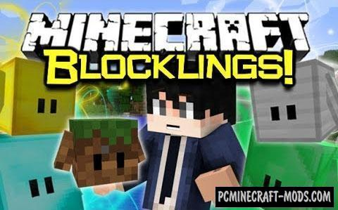 Blocklings Mod For Minecraft 1.12.2, 1.11.2, 1.10.2, 1.7.10