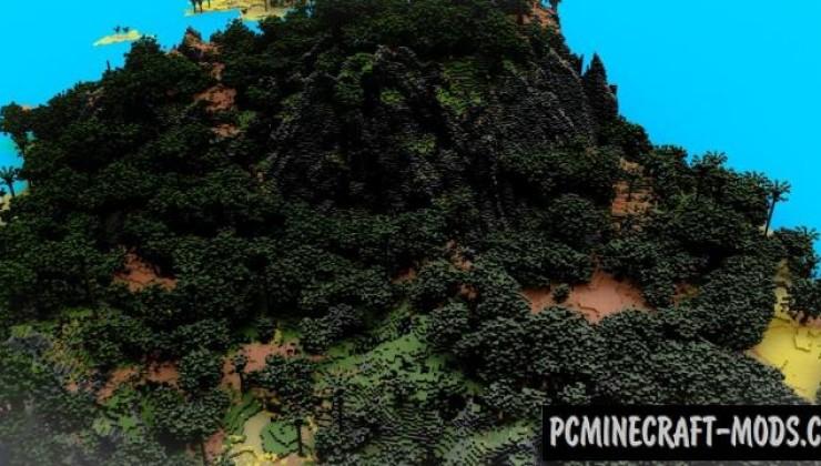 Tropical Paradise - Survival, Terrain Map For MC